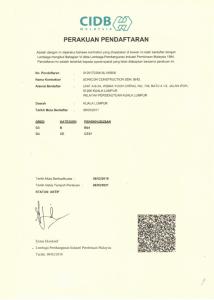 CIDB Malaysia Perakuan Pendaftaran