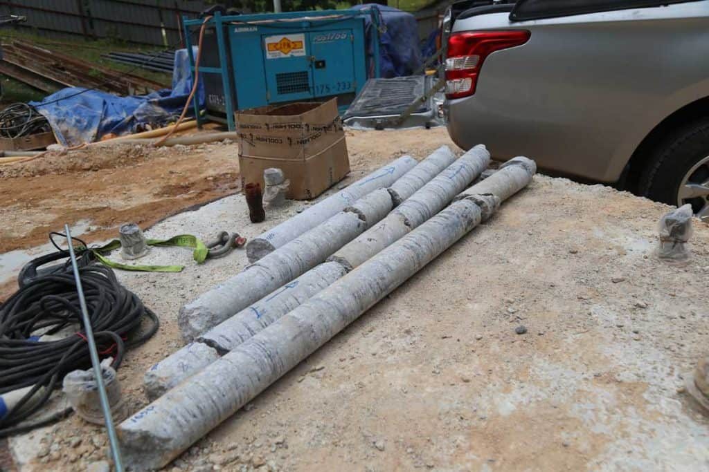 Some of the concrete blocks for concrete test